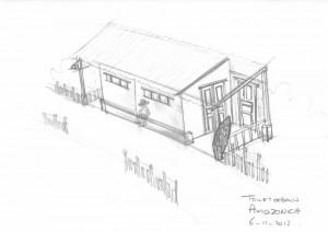 20121106 100169Amazonica toiletgebouw perspectief